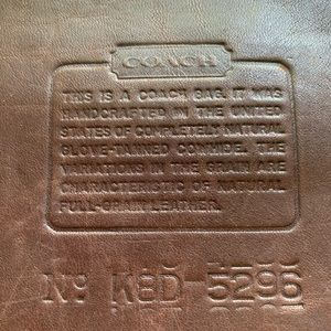 Coach Bags - Coach Leather Briefcase Laptop Bag